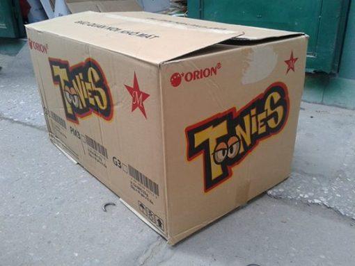 Thùng carton cũ 3 lớp, 60x45x50cm