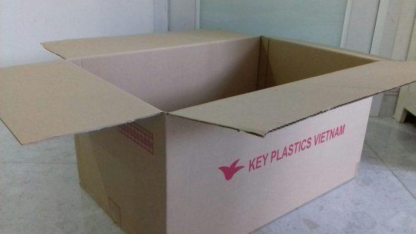 Thùng carton cũ 3 lớp, 58x37x30cm