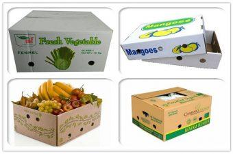 thùng carton cũ vận chuyển trái cây
